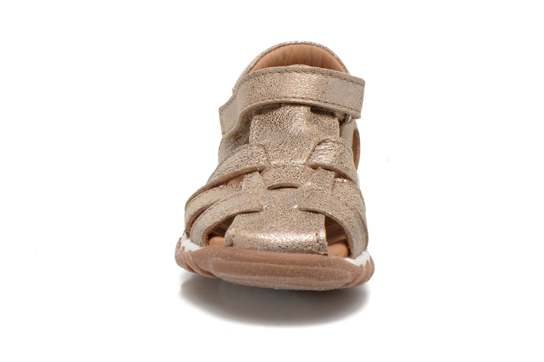 Sandales et nu-pieds Bisgaard Karen Or et bronze vue portées chaussures