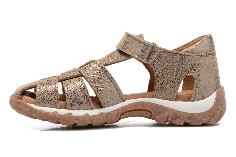 Sandales et nu-pieds Bisgaard Karen Or et bronze vue face