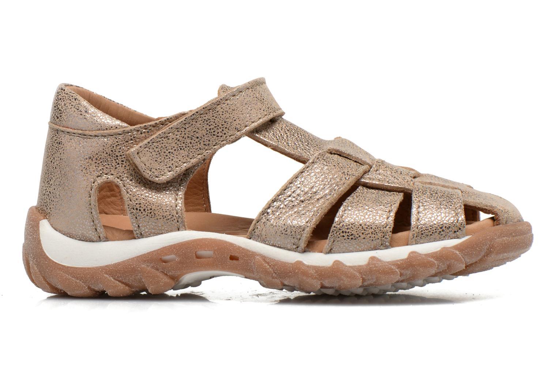 Sandales et nu-pieds Bisgaard Karen Or et bronze vue derrière