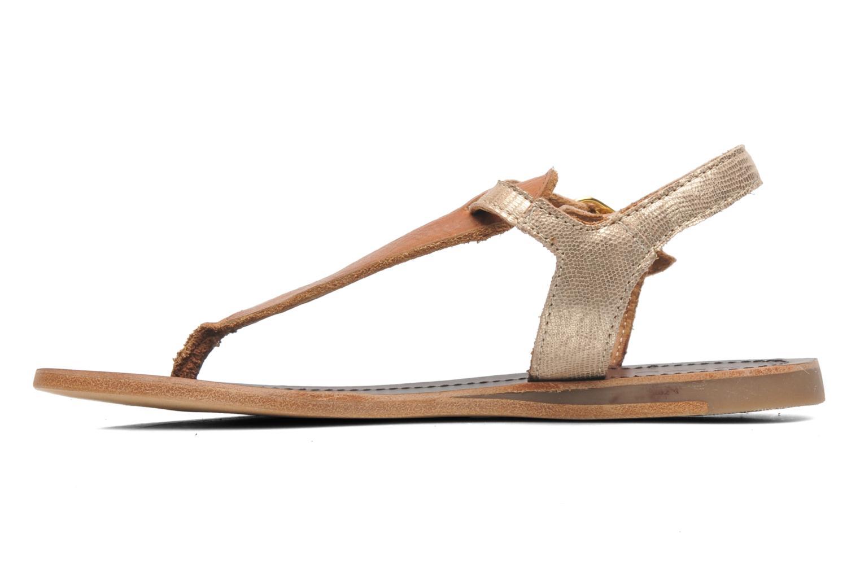 Sandales et nu-pieds Bisgaard Jette Or et bronze vue face