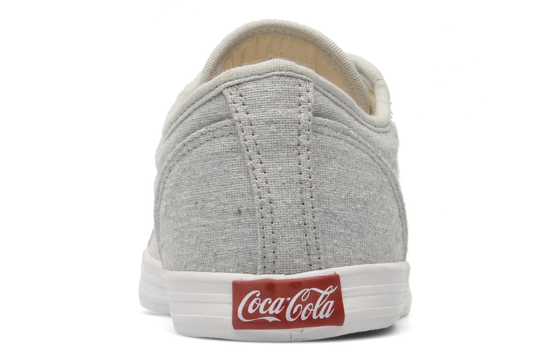 Baskets Coca-cola shoes Line Up Gris vue droite