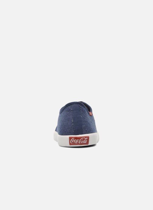 Baskets Coca-cola shoes Wake Bleu vue droite