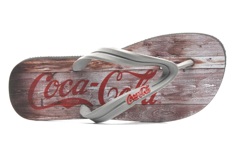 Tongs Coca-cola shoes Wood Gris vue gauche