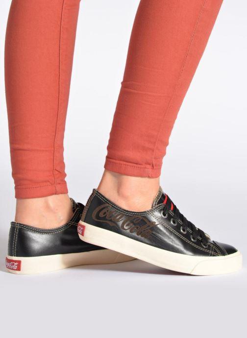Baskets Coca-cola shoes Plain leather Low Noir vue bas / vue portée sac