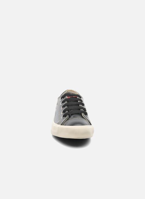 Baskets Coca-cola shoes Plain leather Low Noir vue portées chaussures