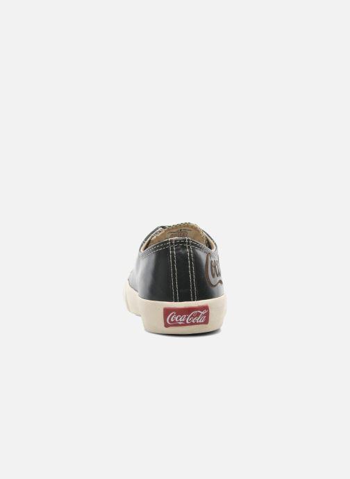 Baskets Coca-cola shoes Plain leather Low Noir vue droite