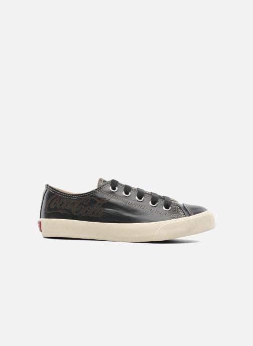 Baskets Coca-cola shoes Plain leather Low Noir vue derrière