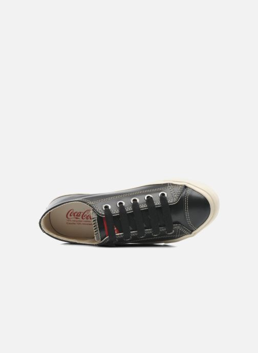 Baskets Coca-cola shoes Plain leather Low Noir vue gauche