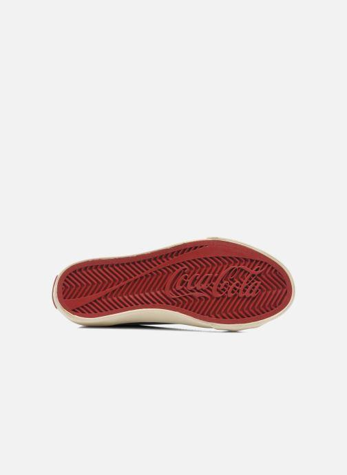 Baskets Coca-cola shoes Plain leather Low Noir vue haut