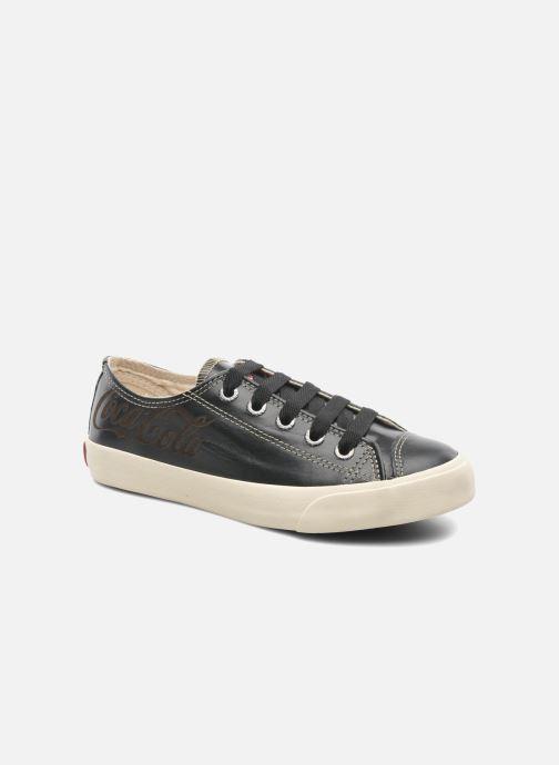 Baskets Coca-cola shoes Plain leather Low Noir vue détail/paire