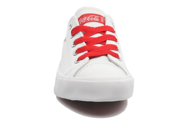Baskets Coca-cola shoes Plain leather Low Blanc vue portées chaussures