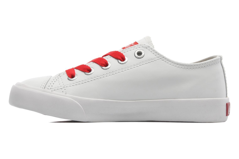 Baskets Coca-cola shoes Plain leather Low Blanc vue face