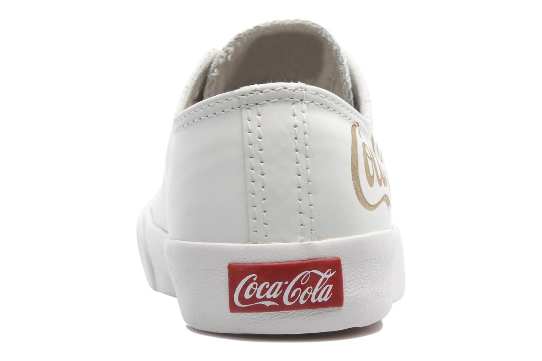 Baskets Coca-cola shoes Plain leather Low Blanc vue droite