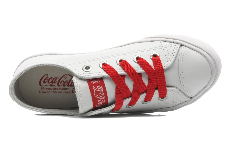 Baskets Coca-cola shoes Plain leather Low Blanc vue gauche
