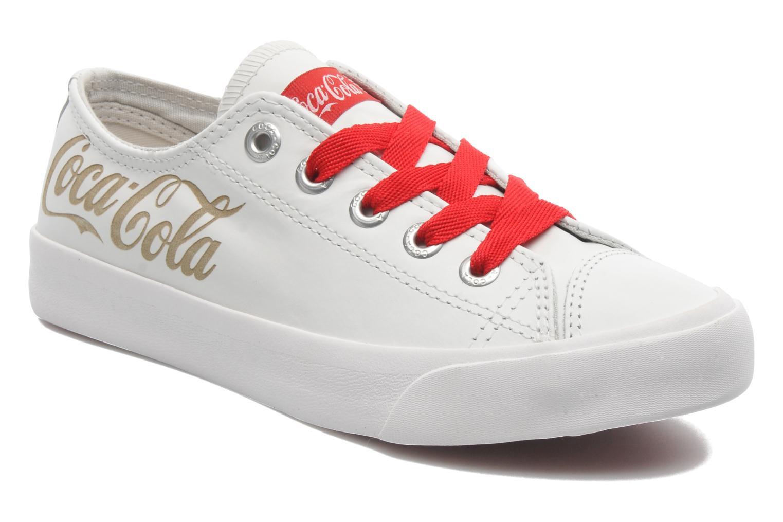Baskets Coca-cola shoes Plain leather Low Blanc vue détail/paire