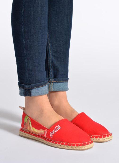Espadrilles Coca-cola shoes Juta Retro Noir vue bas / vue portée sac