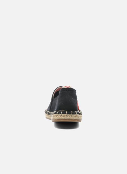Espadrilles Coca-cola shoes Juta Retro Noir vue droite