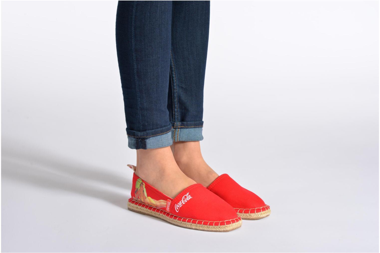 Scarpe di corda Coca-cola shoes Juta Retro Nero immagine dal basso