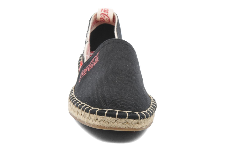 Scarpe di corda Coca-cola shoes Juta Retro Nero modello indossato