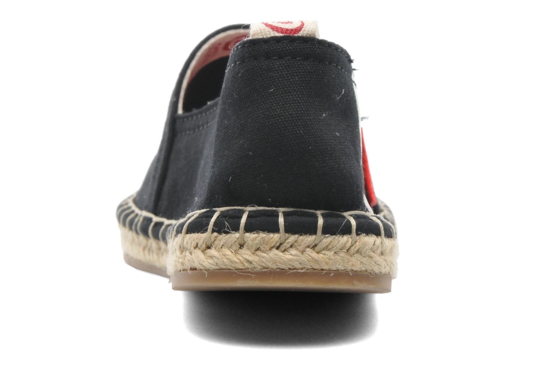 Scarpe di corda Coca-cola shoes Juta Retro Nero immagine destra