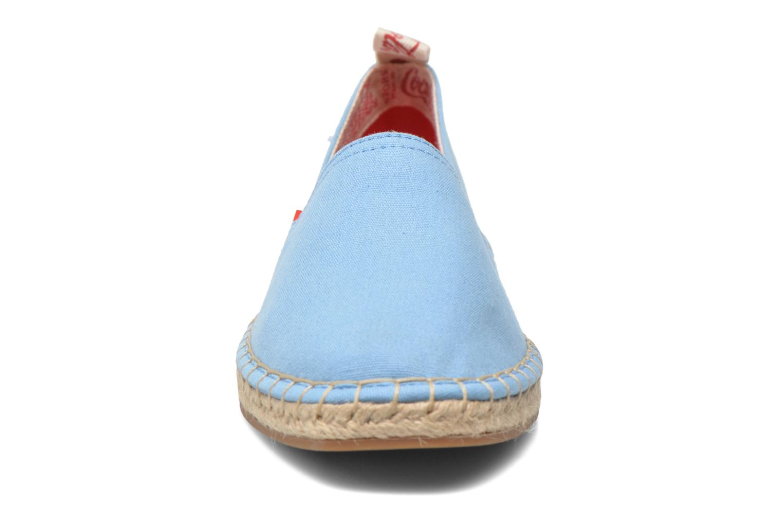 Scarpe di corda Coca-cola shoes Juta Classic W Azzurro modello indossato