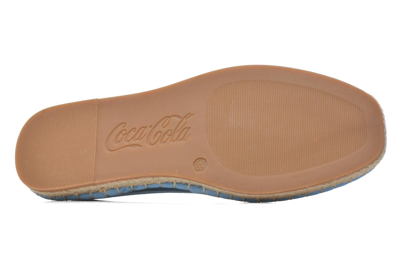 Espadrilles Coca-cola shoes Juta Classic W Blue view from above
