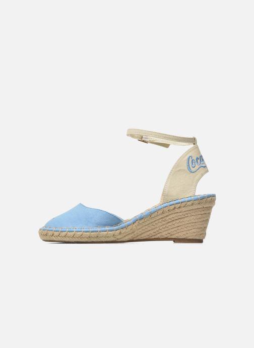 Sandales et nu-pieds Coca-cola shoes Juta City Bleu vue face