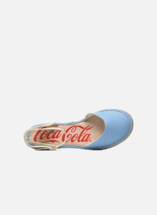 Sandals Coca-cola shoes Juta City Blue view from the left