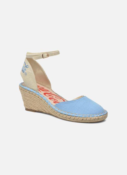 Sandales et nu-pieds Coca-cola shoes Juta City Bleu vue détail/paire