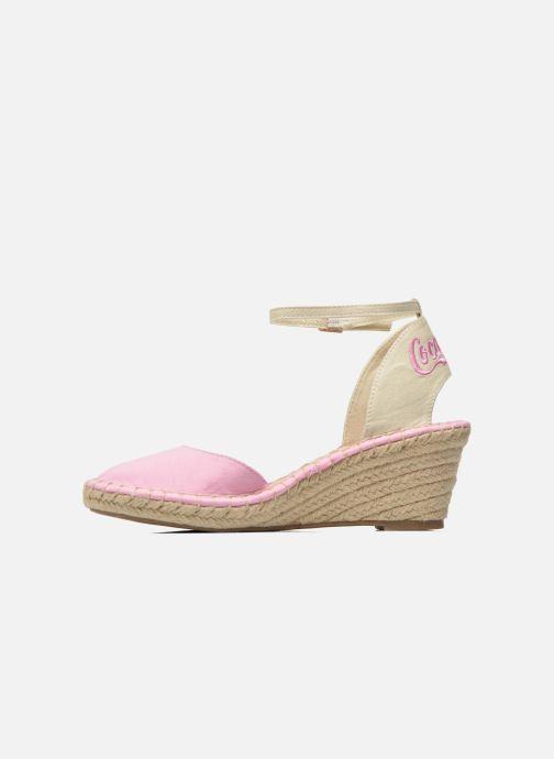 Sandales et nu-pieds Coca-cola shoes Juta City Rose vue face