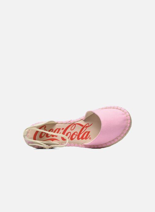 Sandales et nu-pieds Coca-cola shoes Juta City Rose vue gauche