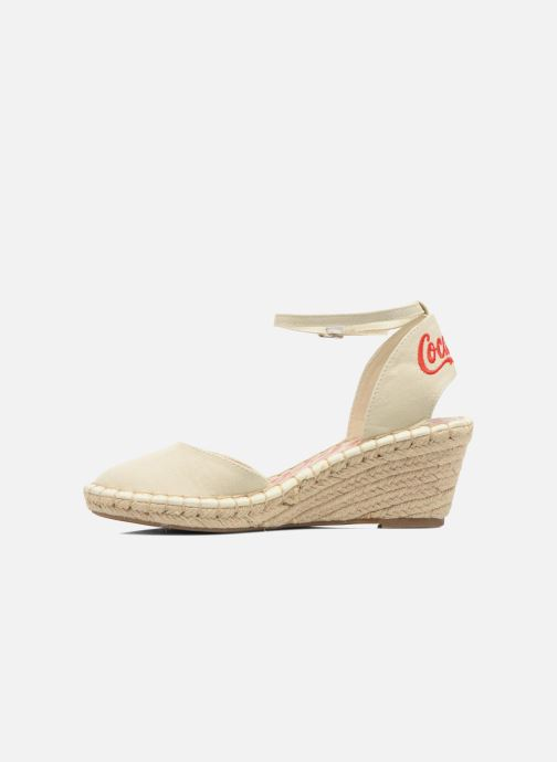 Sandali e scarpe aperte Coca-cola shoes Juta City Beige immagine frontale