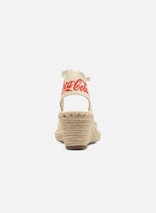 Sandales et nu-pieds Coca-cola shoes Juta City Beige vue droite
