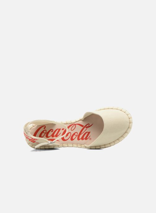Sandals Coca-cola shoes Juta City Beige view from the left