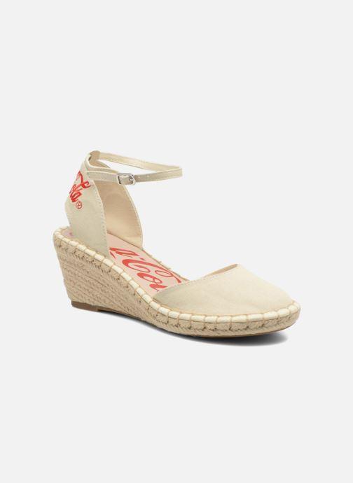 Sandales et nu-pieds Coca-cola shoes Juta City Beige vue détail/paire