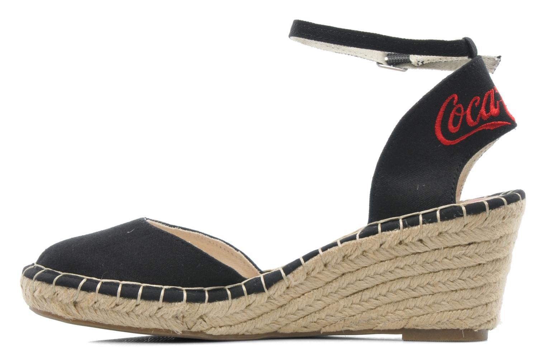 Sandali e scarpe aperte Coca-cola shoes Juta City Nero immagine frontale