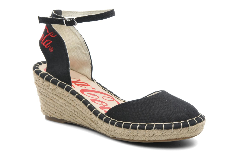 Sandaler Coca-cola shoes Juta City Sort detaljeret billede af skoene