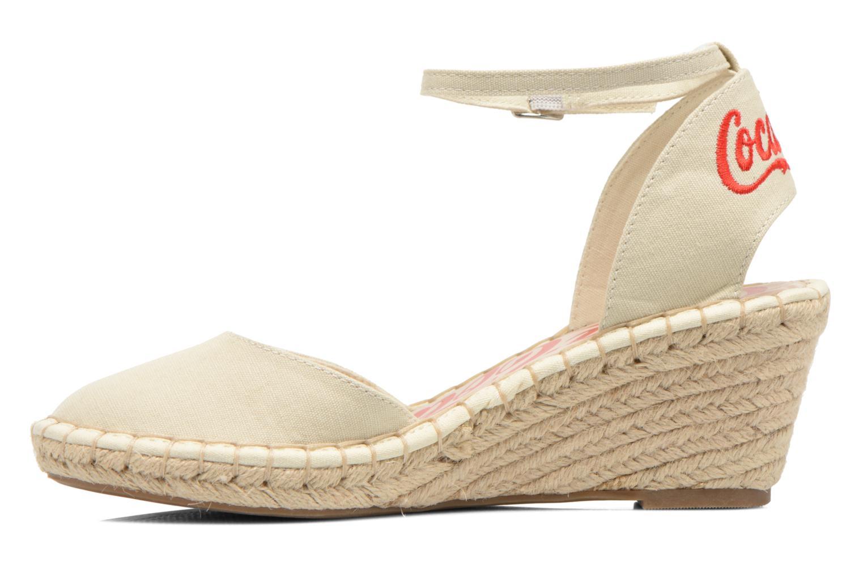 Sandaler Coca-cola shoes Juta City Beige se forfra
