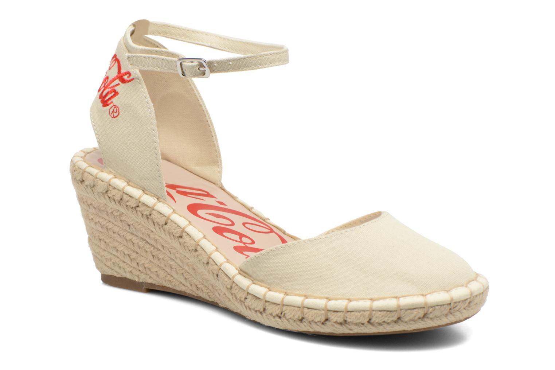 Sandaler Coca-cola shoes Juta City Beige detaljeret billede af skoene