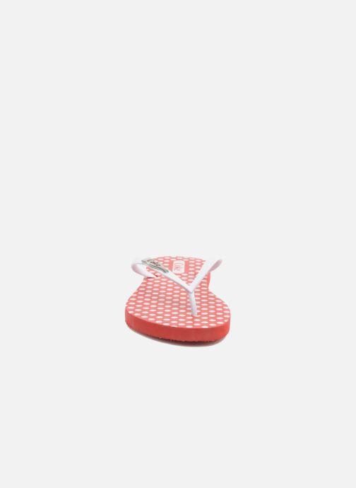 Tongs Coca-cola shoes Dots Rouge vue portées chaussures