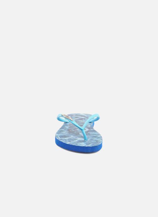 Flip flops Coca-cola shoes Water Girls Blue model view