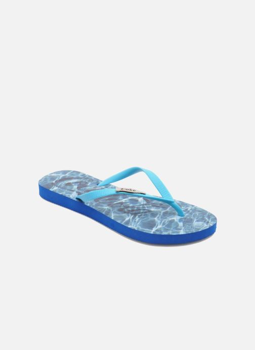 Flip flops Coca-cola shoes Water Girls Blue detailed view/ Pair view