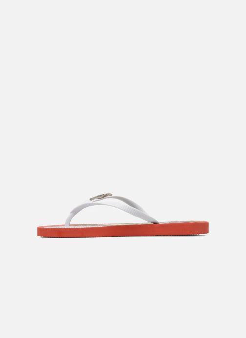 Flip flops Coca-cola shoes Garrafa Girls Red front view