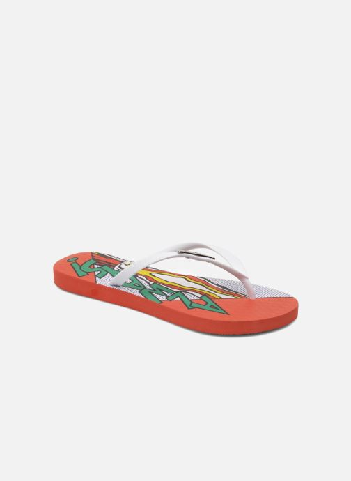 Flip flops Coca-cola shoes Garrafa Girls Red detailed view/ Pair view