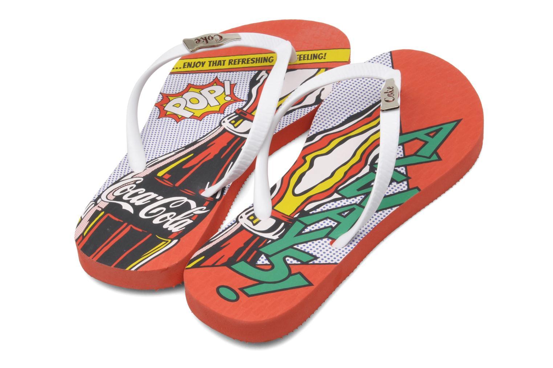 Infradito Coca-cola shoes Garrafa Girls Rosso immagine 3/4