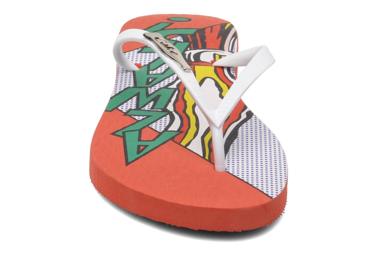 Infradito Coca-cola shoes Garrafa Girls Rosso modello indossato