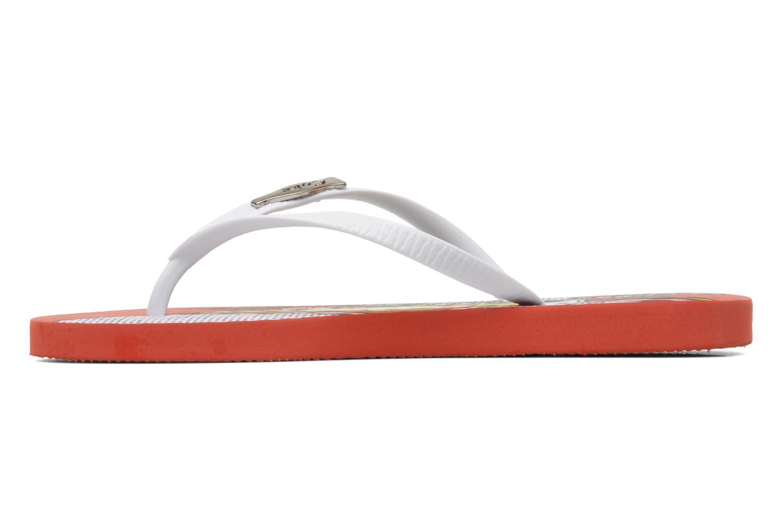 Infradito Coca-cola shoes Garrafa Girls Rosso immagine frontale