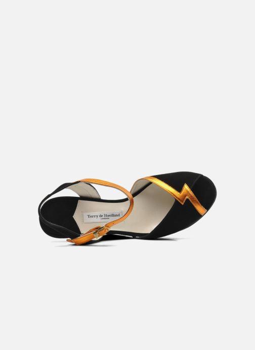Sandales et nu-pieds Terry de Havilland Izzy Noir vue gauche