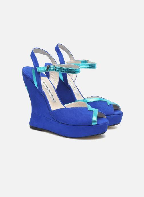 Sandales et nu-pieds Terry de Havilland Izzy Bleu vue 3/4