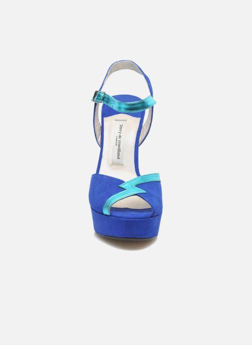 Sandales et nu-pieds Terry de Havilland Izzy Bleu vue portées chaussures